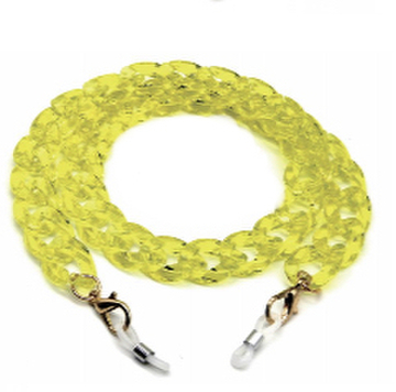 mask chain Neon Yellow